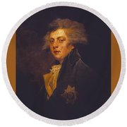 George Iv When Prince Of Wales Round Beach Towel