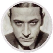 George Raft, Vintage Actor Round Beach Towel