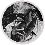 George Romero Round Beach Towel
