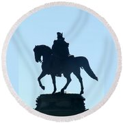 George Washington Monument Philadelphia Round Beach Towel