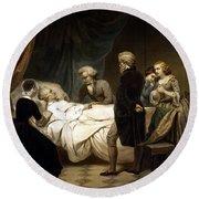 George Washington On His Deathbed Round Beach Towel