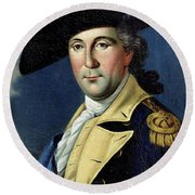 George Washington Round Beach Towel by Samuel King