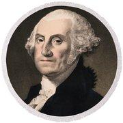 George Washington - Vintage Color Portrait Round Beach Towel