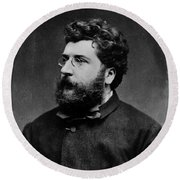 Georges Bizet, French Composer Round Beach Towel