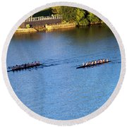 Georgetown Crew On The Potomac? Round Beach Towel