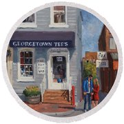 Georgetown Tee's Round Beach Towel