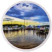 Georgetown Yacht Basin Round Beach Towel