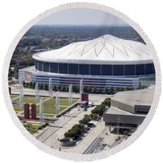 Georgia Dome In Atlanta Round Beach Towel