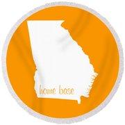 Georgia Is Home Base White Round Beach Towel
