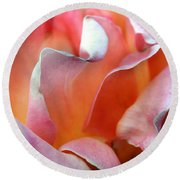 Georgias Rose Round Beach Towel