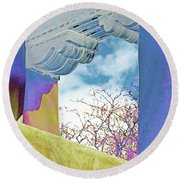Georgias Vision Round Beach Towel