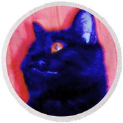 Gepetto The Cat Godzilla Round Beach Towel