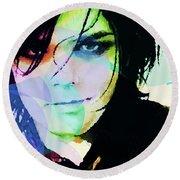 Gerard Way My Chemical Romance  Round Beach Towel