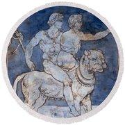 Gericault: Bacchus & Ariadne Round Beach Towel