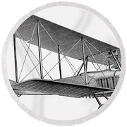 German Airplane, 1913 Round Beach Towel