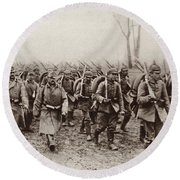 German And Austrian Soldiers Marching Round Beach Towel