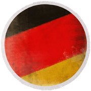 German Flag Round Beach Towel
