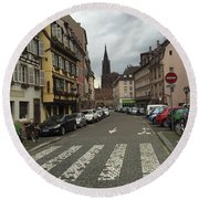 German Street Round Beach Towel