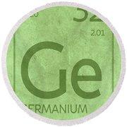 Germanium Element Symbol Periodic Table Series 032 Round Beach Towel