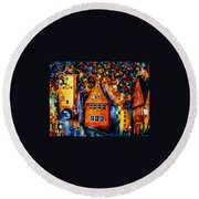 Germany - Medieval Rothenburg Round Beach Towel