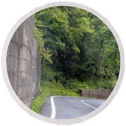 Germany Roads Round Beach Towel