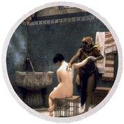 Gerome: The Bath, 1880 Round Beach Towel
