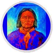 Geromino - Chiricahua Apache Leader Round Beach Towel