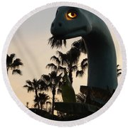 Gertie In The Trees Round Beach Towel