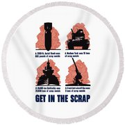 Get In The Scrap - Ww2 Round Beach Towel