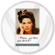 Get There And Back - Ww2 Round Beach Towel