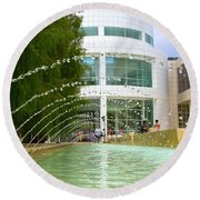 Getty Museum Architecture II Round Beach Towel