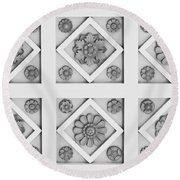 Getty Villa Coffered Peristyle Ceiling Round Beach Towel by Teresa Mucha
