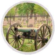 Gettysburg Cannon Cemetery Hill Round Beach Towel