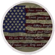 Gettysburg Homage Flag Round Beach Towel