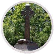 Gettysburg Irish Brigade Monument Round Beach Towel