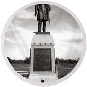 Gettysburg National Park 13th Vermont Infantry Monument Round Beach Towel