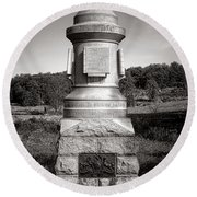 Gettysburg National Park 30th Pennsylvania Infantry Monument Round Beach Towel