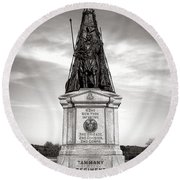 Gettysburg National Park 42nd New York Infantry Monument Round Beach Towel