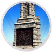 Gettysburg National Park 6th New York Cavalry Memorial Round Beach Towel