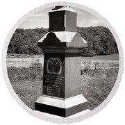 Gettysburg National Park 6th Wisconsin Iron Brigade Monument Round Beach Towel
