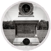 Gettysburg National Park 80th New York Infantry Militia Monument Round Beach Towel