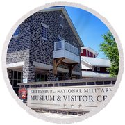 Gettysburg National Park Museum And Visitor Center Round Beach Towel