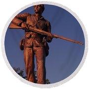 Gettysburg Statue Round Beach Towel