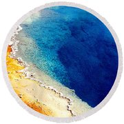 Geyser Basin Round Beach Towel