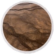 Geyser Patterns Round Beach Towel