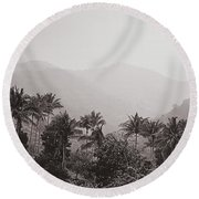 Ghats Round Beach Towel