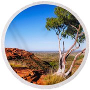 Ghost Gum On Kings Canyon - Northern Territory, Australia Round Beach Towel