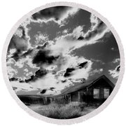 Ghost House Round Beach Towel