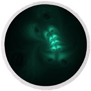 Ghost In The Machine Round Beach Towel
