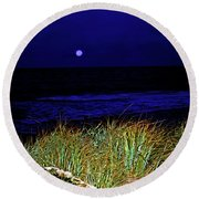 Ghost Moon Round Beach Towel